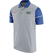 Nike Men's Florida Gators Grey/Blue Football Sideline Polo