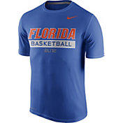 Nike Men's Florida Gators Blue ELITE Basketball Practice T-Shirt