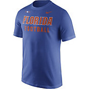 Nike Men's Florida Gators Blue Football Sideline Facility T-Shirt