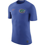 Nike Men's Florida Gators Blue Nike Pro Hypercool Fitted Football T-Shirt