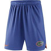 Nike Men's Florida Gators Blue Knit Football Sideline Performance Shorts