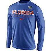 Nike Men's Florida Gators Blue Football Practice Long Sleeve Shirt