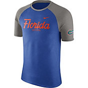 Nike Men's Florida Gators Blue/Grey Script Tri-Blend Raglan T-Shirt