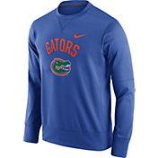 Nike Men's Florida Gators Blue Circuit Crew Sweatshirt