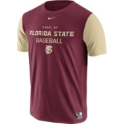 Nike Men's Florida State Seminoles Garnet/Gold Dri-FIT Cotton Baseball T-Shirt