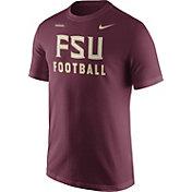 Nike Men's Florida State Seminoles Garnet Football Sideline Facility T-Shirt