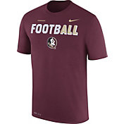 Nike Men's Florida State Seminoles Garnet FootbALL Sideline Legend T-Shirt