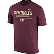 Nike Men's Florida State Seminoles Garnet Football Staff Legend T-Shirt