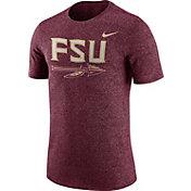 Nike Men's Florida State Seminoles Garnet Marled Logo T-Shirt