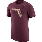 Nike Men's Florida State Seminoles Heathered Garnet Vault Tri-Blend T-Shirt