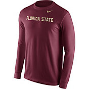 Nike Men's Florida State Seminoles Garnet Wordmark Long Sleeve Shirt