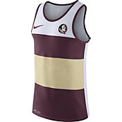 Nike Men's Florida State Seminoles White/Garnet/Gold Wide Stripe Dri-Blend Tank