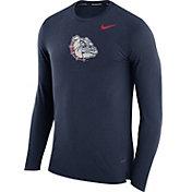 Nike Men's Gonzaga Bulldogs Blue March Basketball Performance Long Sleeve Shirt