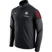 Nike Men's Georgia Bulldogs Elite Coaches Black Half-Zip Shirt