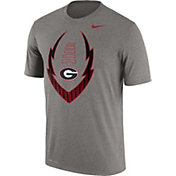 Nike Men's Georgia Bulldogs Grey Football Icon Legend T-Shirt