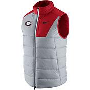 Nike Men's Georgia Bulldogs Grey/Red Football Player Vest