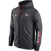 Nike Men's Georgia Bulldogs Anthracite Circuit Full-Zip Hoodie