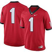 Nike Men's Georgia Bulldogs #1 Red Football Limited Jersey