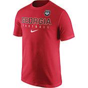 Nike Men's Georgia Bulldogs Red Football Practice T-Shirt