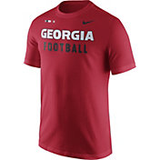 Nike Men's Georgia Bulldogs Red Football Sideline Facility T-Shirt
