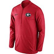 Nike Men's Georgia Bulldogs Red Lockdown Half-Zip Performance Jacket