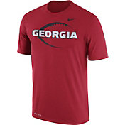 Nike Men's Georgia Bulldogs Red Football Icon Legend T-Shirt