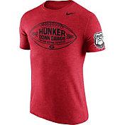 Nike Men's Georgia Bulldogs Red Moments Tri-Blend Football T-Shirt