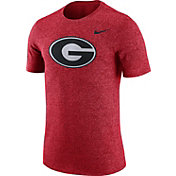 Nike Men's Georgia Bulldogs Red Marled Logo T-Shirt