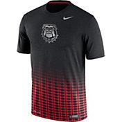 Nike Men's Georgia Bulldogs Black/Red New Day Innovation Football T-Shirt