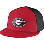 Nike Men's Georgia Bulldogs Players True Swoosh Flex Red/Black Hat