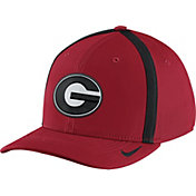 Nike Men's Georgia Bulldogs Red Aerobill Swoosh Flex Classic99 Football Sideline Hat