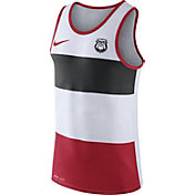 Nike Men's Georgia Bulldogs White/Black/Red Wide Stripe Dri-Blend Tank