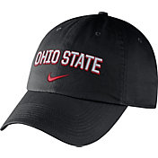 Nike Men's Ohio State Buckeyes Heritage86 Black Wordmark Swoosh Flex Hat