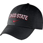 Nike Men's Ohio State Buckeyes Heritage86 Black Wordmark Swoosh Flex Hat