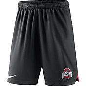 Nike Men's Ohio State Buckeyes Black Knit Football Sideline Performance Shorts