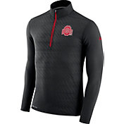 Nike Men's Ohio State Buckeyes Black Element Quarter-Zip Shirt