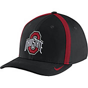 Nike Men's Ohio State Buckeyes Black Aerobill Swoosh Flex Classic99 Football Sideline Hat