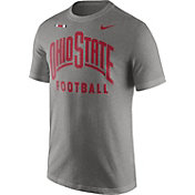 Nike Men's Ohio State Buckeyes Gray Football Sideline Facility T-Shirt