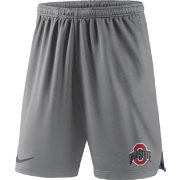 Nike Men's Ohio State Buckeyes Grey Knit Football Sideline Performance Shorts