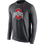 Nike Men's Ohio State Buckeyes Anthracite Logo Long Sleeve Shirt