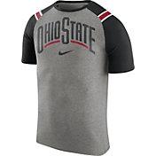 Nike Men's Ohio State Buckeyes Gray/Black Shoulder Stripe T-Shirt
