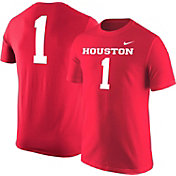 Nike Men's Houston Cougars #1 Red Football Jersey T-Shirt