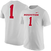 Nike Men's Houston Cougars White #1 Football Jersey T-Shirt