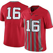 Nike Men's Ohio State Buckeyes #16 Scarlet Throwback Limited Football Jersey