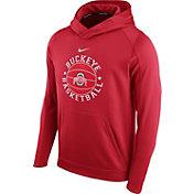 Nike Men's Ohio State Buckeyes Scarlet Circuit Basketball Hoodie