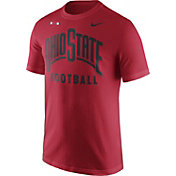 Nike Men's Ohio State Buckeyes Scarlet Football Sideline Facility T-Shirt