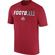 Nike Men's Ohio State Buckeyes Scarlet FootbALL Sideline Legend T-Shirt