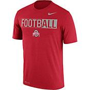 Nike Men's Ohio State Buckeyes Scarlet FootbALL Legend T-Shirt