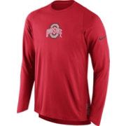 Nike Men's Ohio State Buckeyes Scarlet ELITE Shooter Long Sleeve Shirt