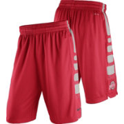 Nike Men's Ohio State Buckeyes Scarlet Basketball Practice ELITE Stripe Shorts